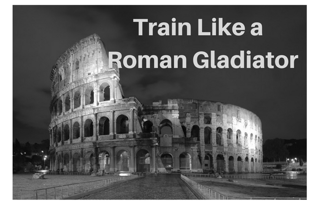 roman gladiators training